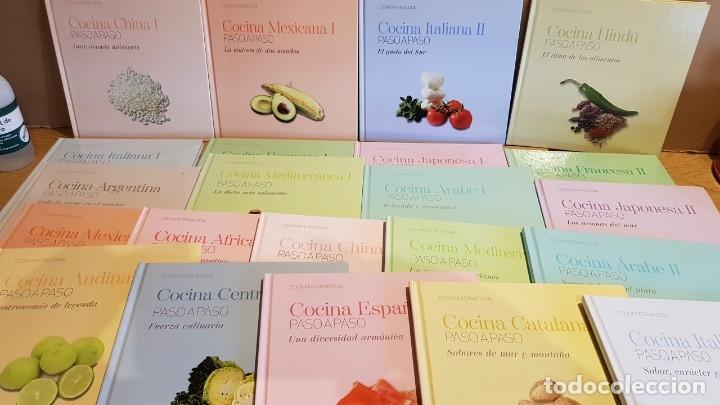 COLECCIÓN COCINA INTERNACIONAL PASO A PASO / 22 LIBROS / COMPLETA / NUEVA A ESTRENAR. (Libros Nuevos - Ocio - Cocina y Gastronomía)