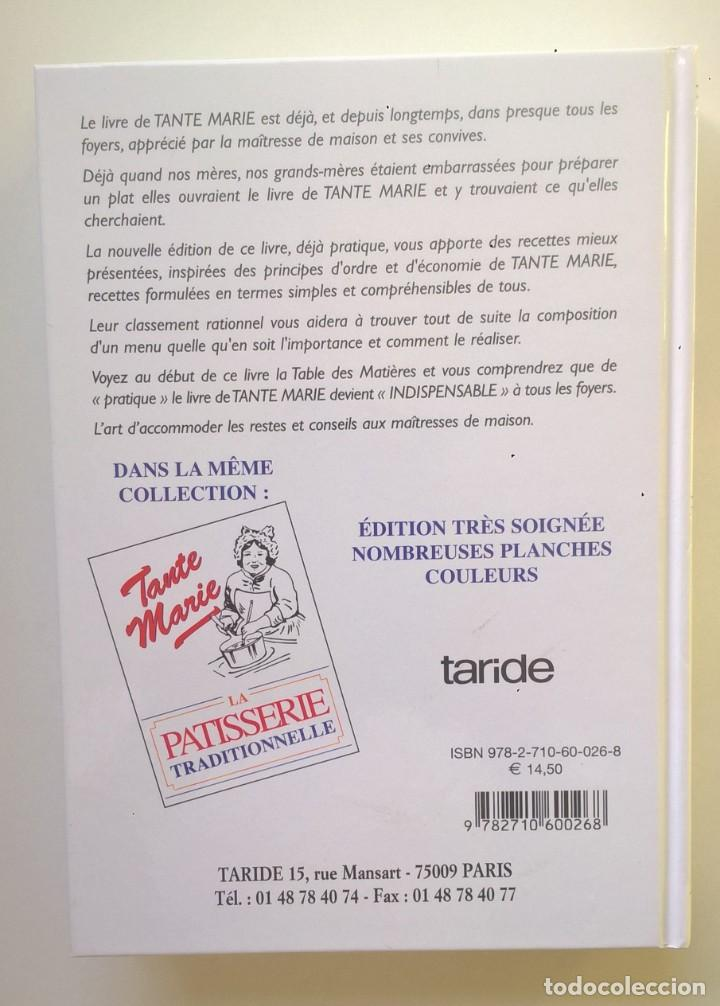 Libros: LA VÉRITABLE CUISINE TRADITIONELLE (1000 RECETES) PAR TANTE MARIE - AÑO 2004 (NOUVELLE ÉDITION) - Foto 2 - 170385440