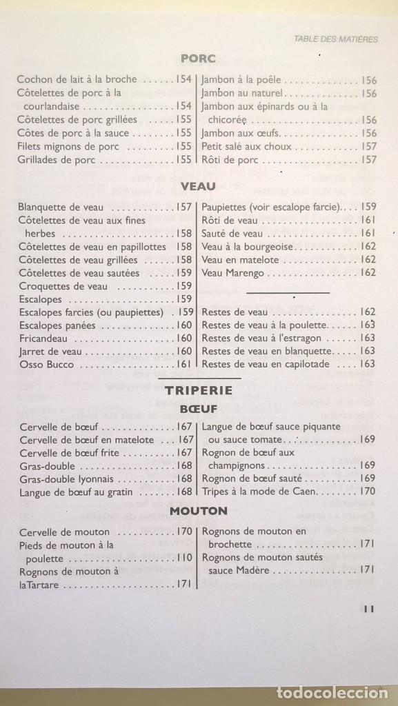 Libros: LA VÉRITABLE CUISINE TRADITIONELLE (1000 RECETES) PAR TANTE MARIE - AÑO 2004 (NOUVELLE ÉDITION) - Foto 16 - 170385440