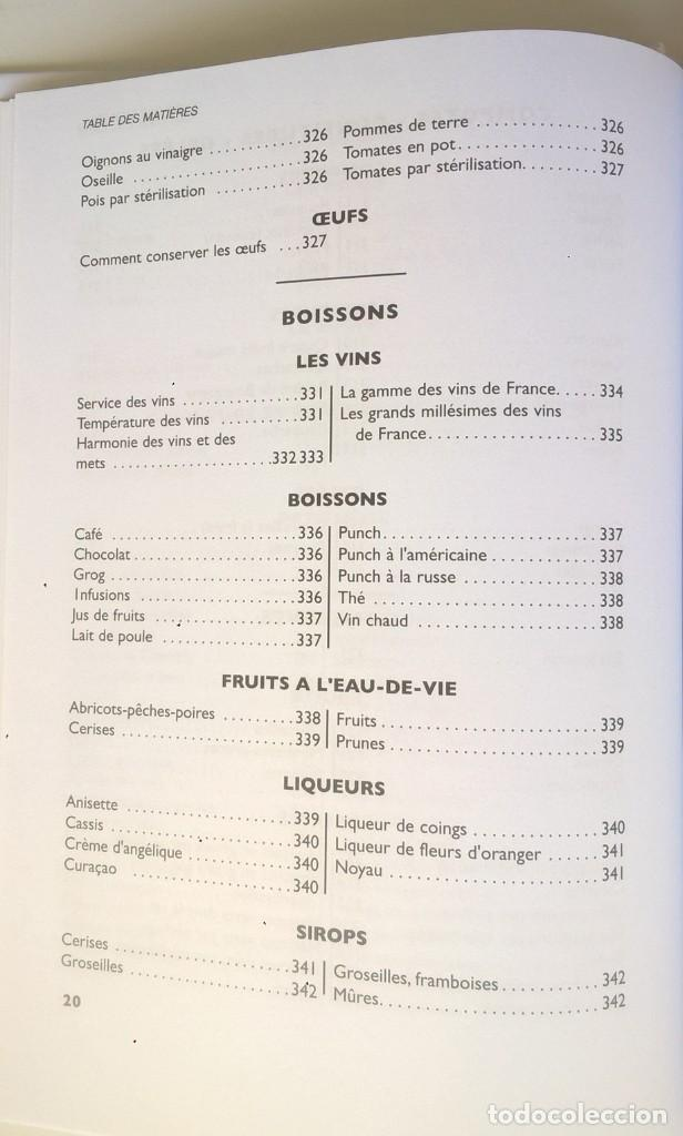 Libros: LA VÉRITABLE CUISINE TRADITIONELLE (1000 RECETES) PAR TANTE MARIE - AÑO 2004 (NOUVELLE ÉDITION) - Foto 23 - 170385440