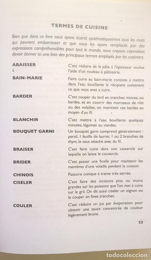 Libros: LA VÉRITABLE CUISINE TRADITIONELLE (1000 RECETES) PAR TANTE MARIE - AÑO 2004 (NOUVELLE ÉDITION) - Foto 25 - 170385440