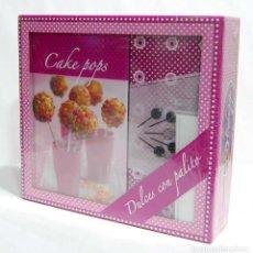 Libros: CAKE POPS. DULCES CON PALITO. SET ESTUCHE REGALO. N.G.V.. Lote 171556559