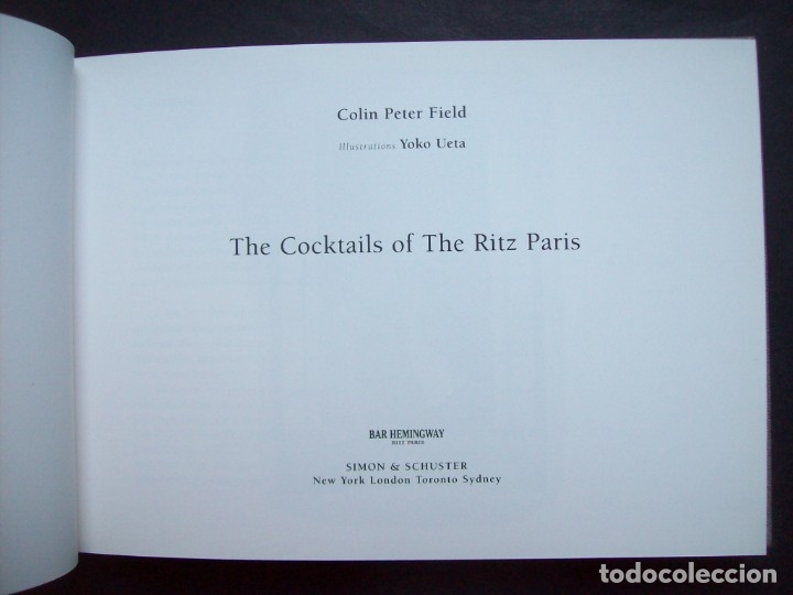 Libros: The Cocktails of the Ritz Paris. Bar Hemingway - Foto 2 - 175232165