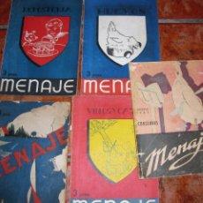 Livres: LOTE 5 REVISTAS DE RECETAS DE COCINA MENAJE 189- 182- 152- 188 - 179 AÑO 1943- 45 46 . Lote 183716883