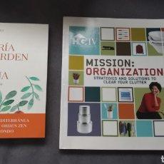 Libros: LIBROS DE ORDEN EN CASA: LA ALEGRÍA DEL ORDEN EN LA COCINA Y MISSION ORGANIZATION. Lote 191643672