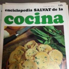Libros: ENCICLOPEDIA SALVAT DE LA COCINA - Nº 125 - 27/6/1974 - EN PERFECTO ESTADO. Lote 191878503