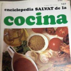 Libros: ENCICLOPEDIA SALVAT DE LA COCINA - Nº 107 - 21/2/1974 - EN PERFECTO ESTADO. Lote 191879047