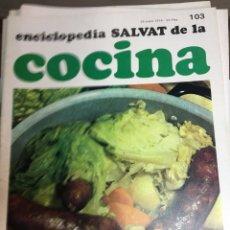 Libros: ENCICLOPEDIA SALVAT DE LA COCINA - Nº 103 - 24/1/1974 - EN PERFECTO ESTADO. Lote 191879577