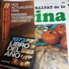 Libros: ENCICLOPEDIA SALVAT DE LA COCINA - Nº 99 - 27/12/1973 - EN PERFECTO ESTADO. Lote 191880072