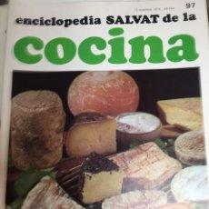 Libros: ENCICLOPEDIA SALVAT DE LA COCINA - Nº 97 - 13/12/1973 - EN PERFECTO ESTADO. Lote 191880381