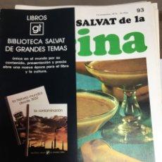 Libros: ENCICLOPEDIA SALVAT DE LA COCINA - Nº 93 - 15/11/1973 - EN PERFECTO ESTADO. Lote 191880832
