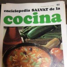 Libros: ENCICLOPEDIA SALVAT DE LA COCINA - Nº 92 - 08/11/1973 - EN PERFECTO ESTADO. Lote 191880901