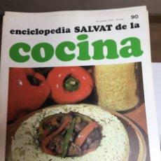 Libros: ENCICLOPEDIA SALVAT DE LA COCINA - Nº 90 - 25/10/1973 - EN PERFECTO ESTADO. Lote 191882121