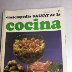 Libros: ENCICLOPEDIA SALVAT DE LA COCINA - Nº 71 - 14/6/1973 - EN PERFECTO ESTADO. Lote 192223676