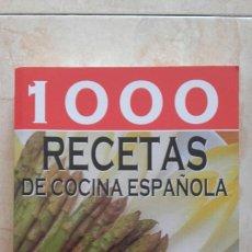 Libros: 1000 RECETAS DE COCINA ESPAÑOLA.. Lote 193573543