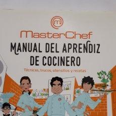 Libros: MANUAL DEL APRENDIZ DE COCINERO. MASTER CHEF.. Lote 199762868