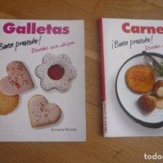 Libros: LIBROS FICHERO DE CIRCULO DE LECTORES,BUEN PROVECHO,GALLETAS Y CARNES.. Lote 202962587