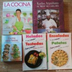 Libros: 7 LIBROS Y CUADERNOS DE COCINA. Lote 206178566