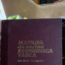 Libros: MANUAL DE COCINA VASCO POR JOSÉ CASTILLO DEDICATORIA DEL AUTOR, 373 PG. Lote 220924683