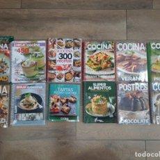 Libros: LOTE 12 LIBROS RECETAS DE COCINA (HOLA COCINA, LECTURAS COCINA...) - NUEVAS Y PRECINTADAS. Lote 223440428