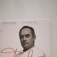 Libros: COCINA DE FERRAN ADRIA. Lote 227900230