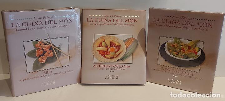 LA CUINA DEL MÓN / CULTURA I GASTRONOMIA DELS CINC CONTINENTS / JAUME FÀBREGA / 3 TOMOS. (Libros Nuevos - Ocio - Cocina y Gastronomía)
