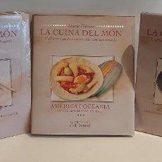 Libros: LA CUINA DEL MÓN / CULTURA I GASTRONOMIA DELS CINC CONTINENTS / JAUME FÀBREGA / 3 TOMOS.. Lote 229031425