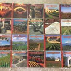 Libros: 20 LIBROS LAS RUTAS DEL VINO EN ESPAÑA. Lote 230176450