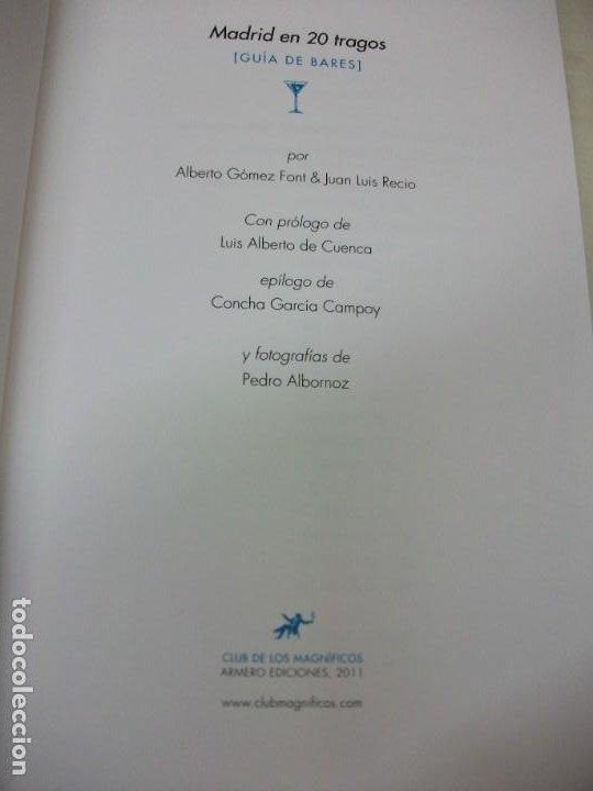 Libros: MADRID EN 20 TRAGOS GUIA DE BARES BALMORAL LOQUILLO 2011 LUIS ALBERTO DE CUENCA VINOS COCKTEL - Foto 2 - 249385495
