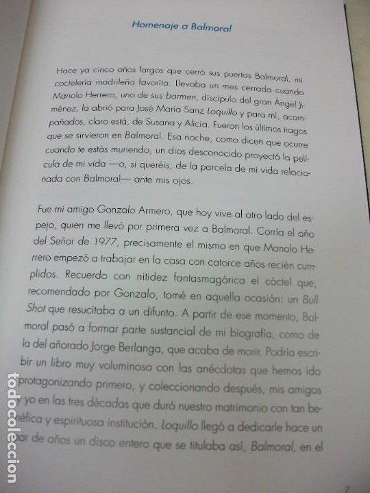 Libros: MADRID EN 20 TRAGOS GUIA DE BARES BALMORAL LOQUILLO 2011 LUIS ALBERTO DE CUENCA VINOS COCKTEL - Foto 4 - 249385495
