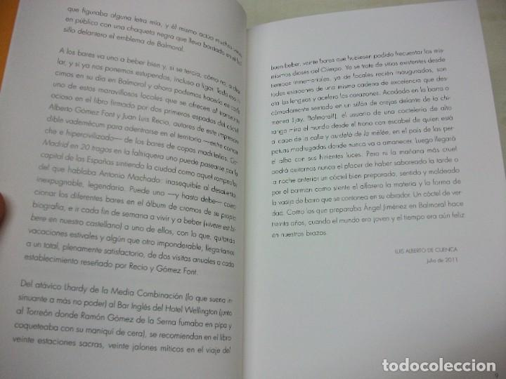 Libros: MADRID EN 20 TRAGOS GUIA DE BARES BALMORAL LOQUILLO 2011 LUIS ALBERTO DE CUENCA VINOS COCKTEL - Foto 5 - 249385495