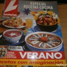 Libros: REVISTA LECTURAS CON RECETAS DE COCINA. Lote 254924145