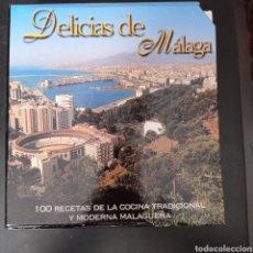 Libros: DELUCIAS DE MALAGA , 100 RECETAS DE LA COCINA TRADICIONAL Y MODERNA MALAGUEÑA 5 TOMOS , ENVIO GRATIS. Lote 261605365