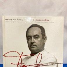 Libros: LIBRO DE FERRAN ADRIÁ, TAPA DURA DE 20 X 20 CM,. Lote 265169589