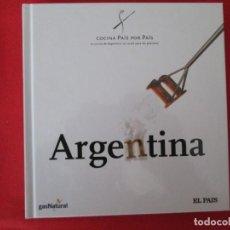 Libros: COCINA PAIS POR PAIS ARGENTINA. Lote 273079548