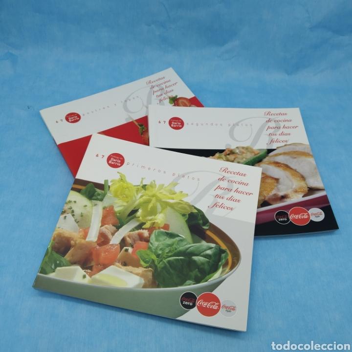 3 LIBROS COCA-COLA. RECETAS DE COCINA PARA HACER TUS DÍAS FELICES. AÑO 2010. NUEVOS A ESTRENAR. (Libros Nuevos - Ocio - Cocina y Gastronomía)