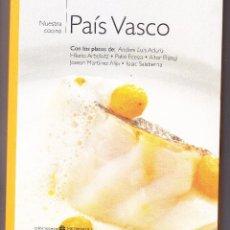 Livres: NUESTRA COCINA PAIS VASCO - BIBLIOTECA METRÓPOLI 2004 - 191 PG. - TAPAS CARTÓN DOBLE- OCASION. Lote 275924658