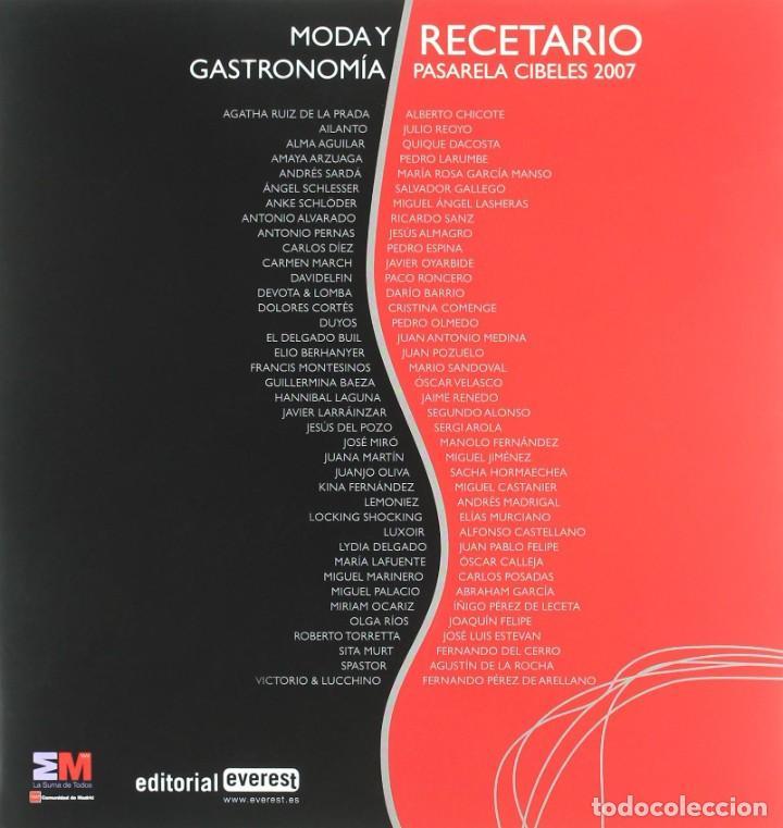 Libros: MODA Y GASTRONOMIA - RECETARIO (2008) - SACHA HORMAECHEA & TERESA GARAIZABAL - ISBN: 9788424175245 - Foto 4 - 287112823