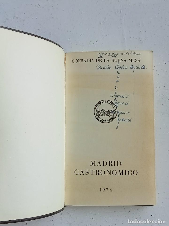 Libros: Madrid gastronómico, Cofradía de la buena mesa 1974 - Foto 3 - 287185258