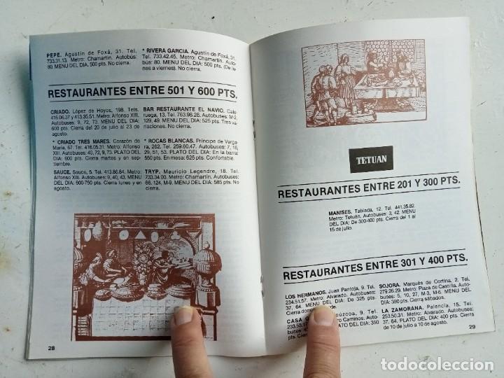 Libros: Comer barato en Madrid y Alcalá de Henares, invierno 1987, Patronato Municipal de Turismo - Foto 2 - 287185363