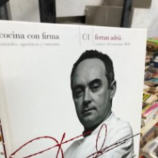 Livros: FERRAN ADRIA - COCINA CON FIRMA. Lote 290302938