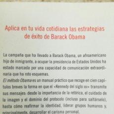 Libros: INÉDITO: BEST SELLER 'EL MÉTODO OBAMA'. Lote 87646946