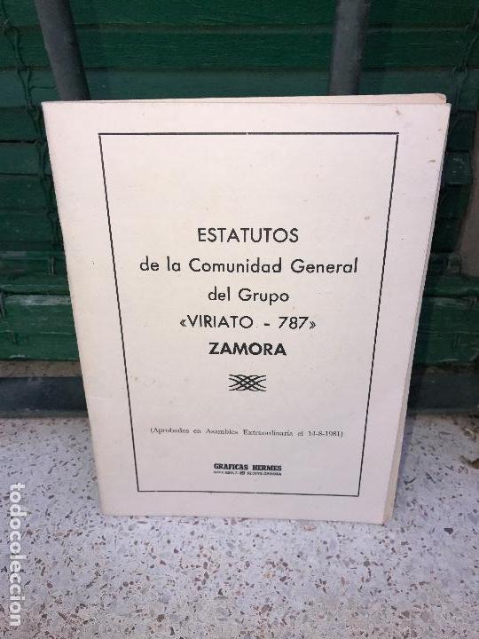 ZAMORA , ESTATUTOS VIRIATO 787 (Libros Nuevos - Humanidades - Comunicación)
