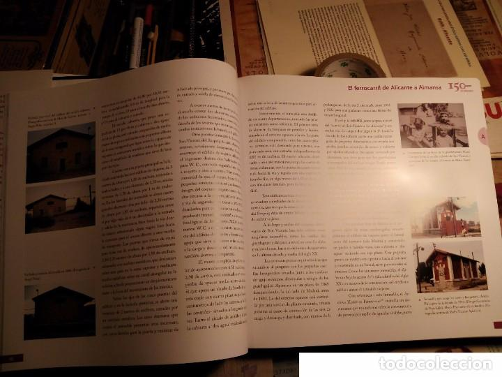Libros: 150 años de caminos de hierro de San Vicente del Raspeig 2008 - TRANVÍAS DE alicante - libro de lujo - Foto 2 - 105383091