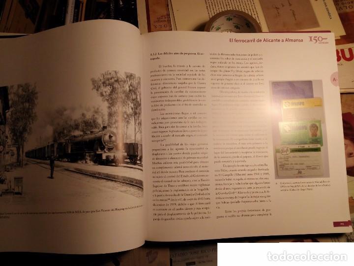 Libros: 150 años de caminos de hierro de San Vicente del Raspeig 2008 - TRANVÍAS DE alicante - libro de lujo - Foto 3 - 105383091