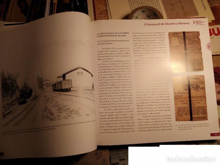 Libros: 150 años de caminos de hierro de San Vicente del Raspeig 2008 - TRANVÍAS DE alicante - libro de lujo - Foto 4 - 105383091
