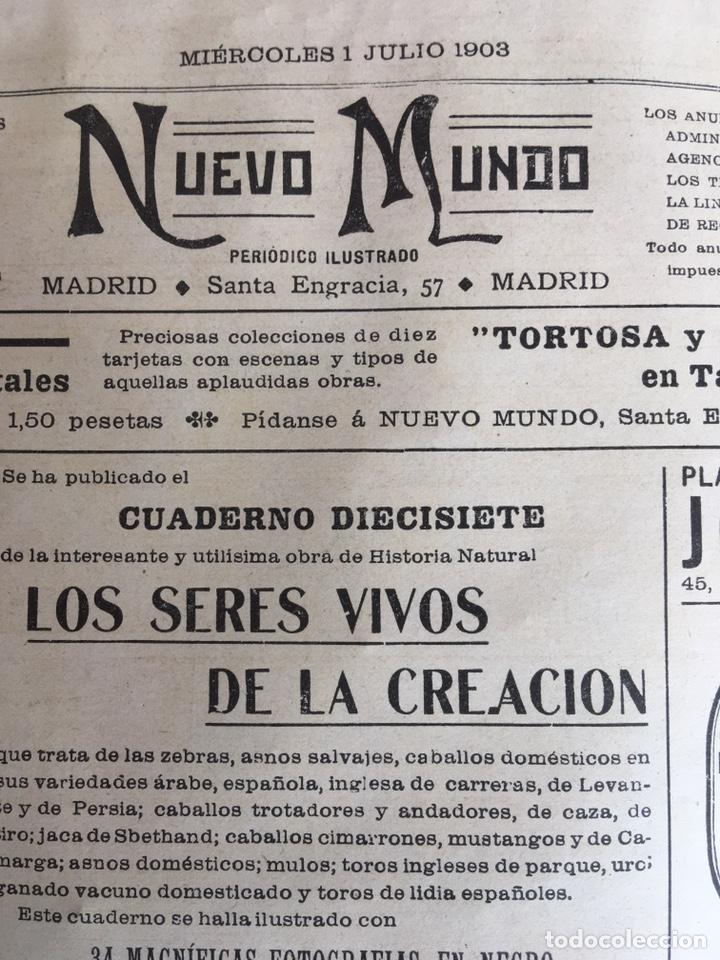 Libros: NUEVO MUNDO DE 1903 - Foto 3 - 149755938