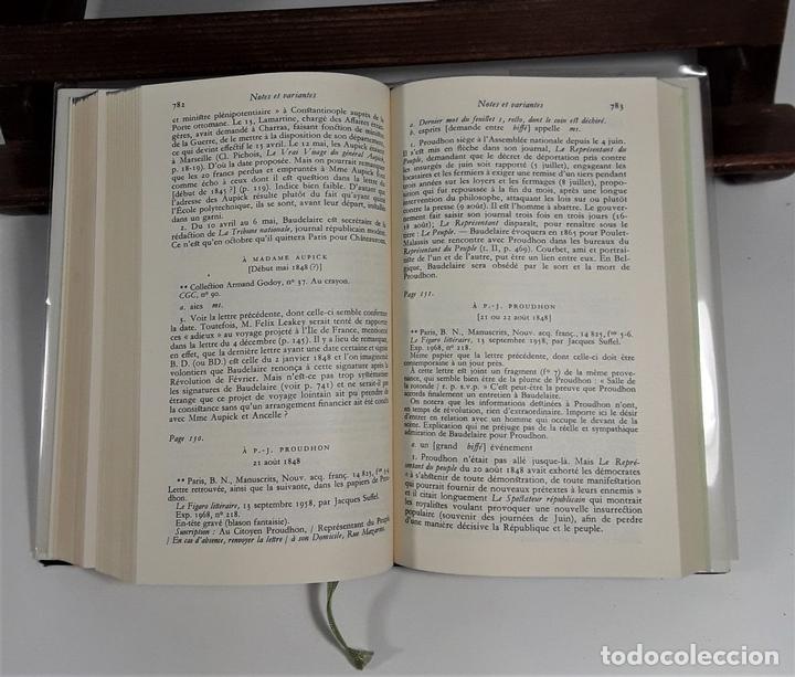 Libros: CORRESPONDANCE. TOMO I. BAUDELAIRE. EDIC. GALLIMARD. FRANCIA. 1973. - Foto 5 - 159614170