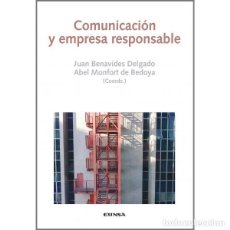 Libros: COMUNICACIÓN Y EMPRESA RESPONSABLE (BENAVIDES / MONFORT) EUNSA 2015. Lote 183842407