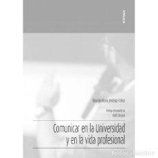Libros: COMUNICAR EN LA UNIVERSIDAD Y EN LA VIDA PROFESIONAL (JIMÉNEZ YÁÑEZ) EUNSA 2020. Lote 193164276